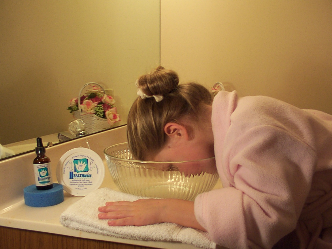 Using the Facial & Sinus Bath